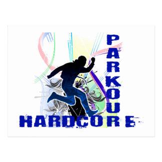 Free Running Parkour Hardcore Postcard
