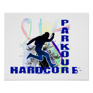 Free Running Parkour Hardcore Poster
