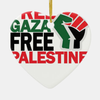 FREE SAFE GAZA PALESTINE G.png Christmas Tree Ornament