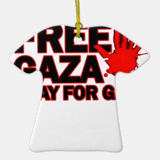 FREE SAFE GAZA PALESTINE H.png Ornaments
