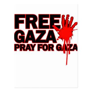 FREE SAFE GAZA PALESTINE H.png Postcard