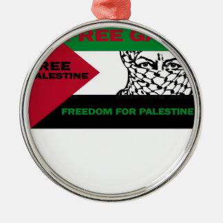 FREE SAFE GAZA PALESTINE J.png Christmas Tree Ornament