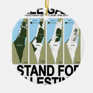 FREE SAFE GAZA PALESTINE.png Ornament