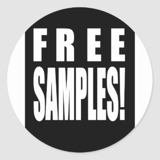 free samples classic round sticker