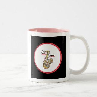 **Free SaXo** Two-Tone Coffee Mug