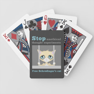 Free Schrodinger's Cat Bicycle Playing Cards