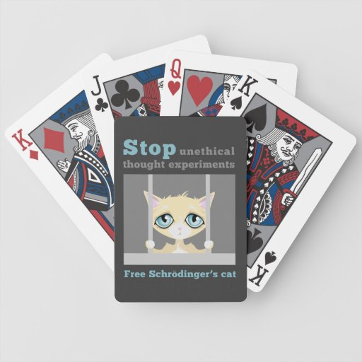 Free Schrodinger's Cat Bicycle Poker Cards