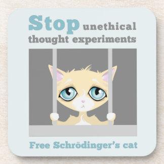 Free Schrodinger's cat Coasters