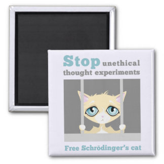 Free Schrodinger's Cat Magnet