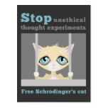 Free Schrodinger's Cat Postcard