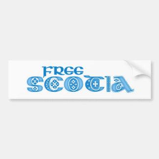 Free Scotia Bumper Sticker