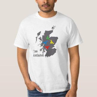 Free Scotland Flying Colour Birds T-shirt
