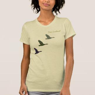 Free Scotland Tartan Flying Ducks T-Shirt