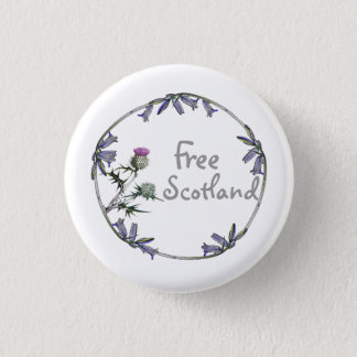 Free Scotland Thistle Bluebell Independence Button