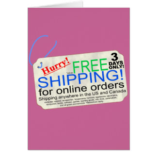 Free Shipping! Card