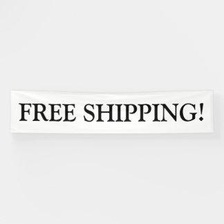 Free shipping customizable black white banner