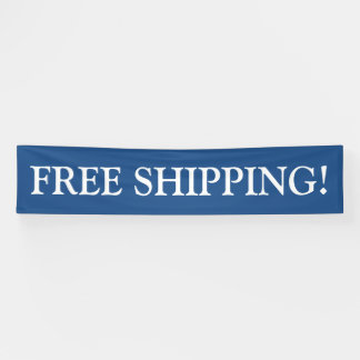 Free shipping customizable blue white banner