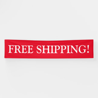 Free shipping customizable red white banner