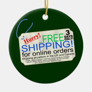 Free Shipping Exclusions Ceramic Ornament