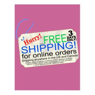 Free Shipping! Postcard