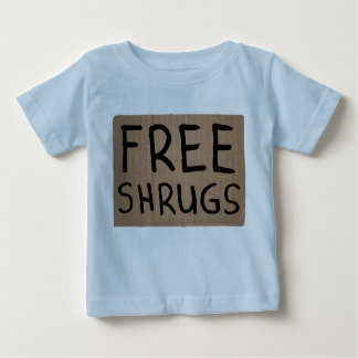 Free Shrugs Cardboard Sign Baby T-Shirt