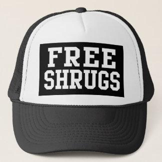 Free Shrugs, Funny Parody Trucker Hat