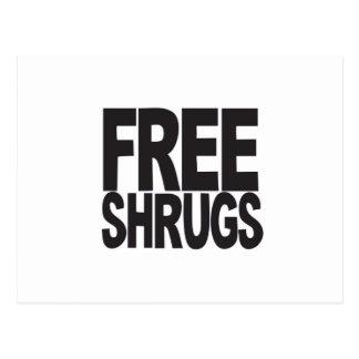 Free Shrugs Postcard