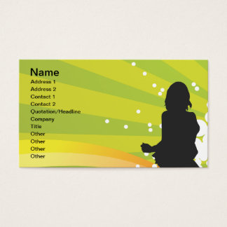 Free Silhouettes of Dancing Girls Business Card