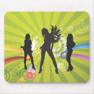 Free Silhouettes of Dancing Girls Mouse Pad