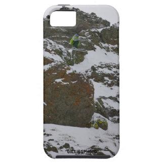 Free ski  extreme cliff jump at Kirkwood iPhone SE/5/5s Case