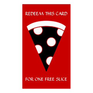 free slice of pizza coupon business card