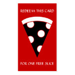free slice of pizza coupon Double-Sided standard business cards (Pack of 100)