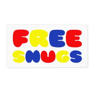 FREE SNUGS LABEL