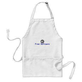 Free software - copyleft adult apron