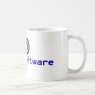 Free software - copyleft coffee mug