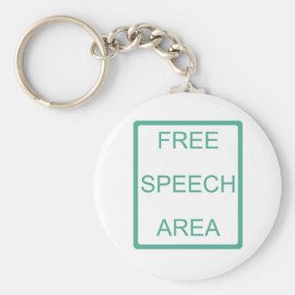 Free Speech Area Keychain