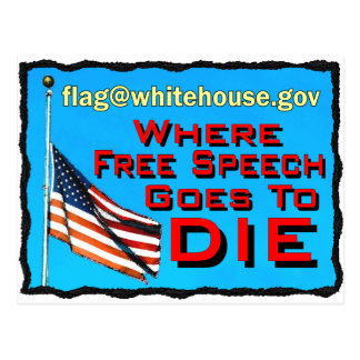 free speech death copy postcard