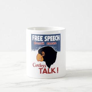 Free Speech Doesn't Mean Careless Talk! -- WWII Mug