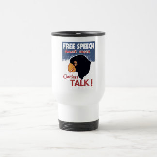Free Speech Doesn't Mean Careless Talk! -- WWII Coffee Mugs
