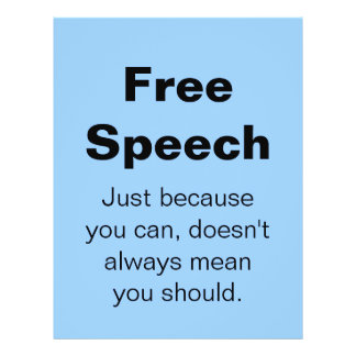 Free Speech Flyer