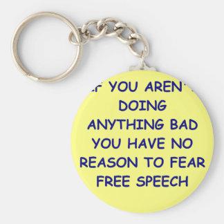 free speech key chains