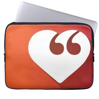 "Free Speech Love 13"" Laptop Sleeve"