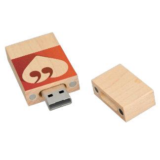 Free Speech Love 8GB USB Wood USB Flash Drive