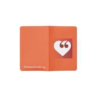 Free Speech Love Pocket Moleskine Notebook