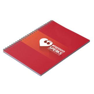 Free Speech Love Spiral Notebook