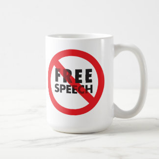 FREE SPEECH CLASSIC WHITE COFFEE MUG