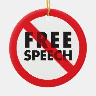 FREE SPEECH ornament