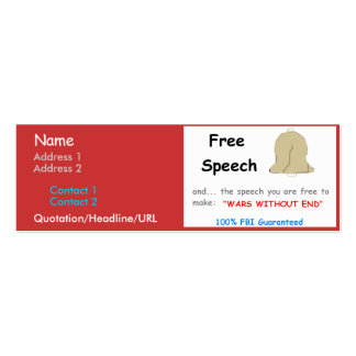 Free Speech Personal Card Double-Sided Mini Business Cards (Pack Of 20)