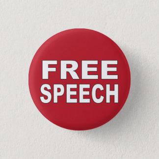 Free Speech Pinback Button