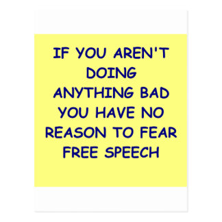free speech postcard
